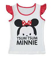 Яркая футболка с модным принтом для девочки