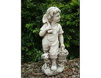 Садовая фигура из стекло-фиброцемента Деревенский мальчик 27.5х23.2х60.5 см