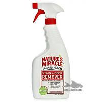 Уничтожитель запахов кошачьих меток и мочи Just for Cats Stain& Odor Remover, 8in1 спрей 709 мл