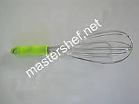 Венчик металлический с цветной ручкой 30см. VT6-17813