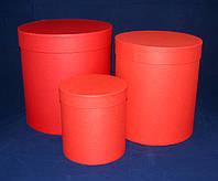 Набор подарочных круглых коробок Красный 3