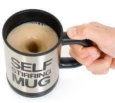 Кружка-мешалка Self Stirring Mug чашка с вентилятором для размешивания сахара, фото 2