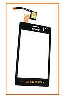 Сенсор (тачскрин) Sony ST27i Xperia Go Black Original