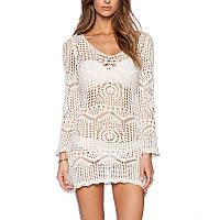 Пляжное ажурное платье с рукавом РМ7311