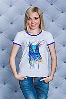 Женская  футболка с печатью Сова белая