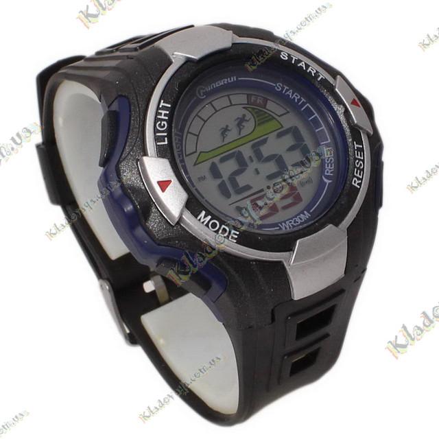 0124 _  Электронные Водонепроницаемые часы Mingrui, 3 атм синие