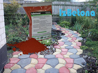 Красный пигмент, краситель для бетона
