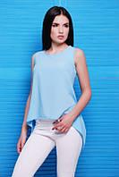 Женская голубая майка Laura ТМ  Fashion UP 42-48 размеры