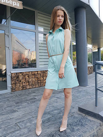 Женское платье рубашка без рукавов ТМ Dives, фото 2