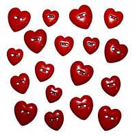 Декоративные пуговицы. Сердца