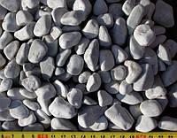 Галька бело-серая мрамор(Греция)