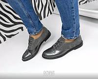 Фирменные женские туфли в стиле оксфорд 37 размер