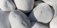 Галька белая мрамор (Греция)