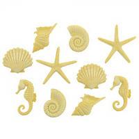 Декоративные пуговицы. Морские фигурки