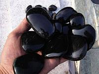 Мраморная галька черная 40-60 мм