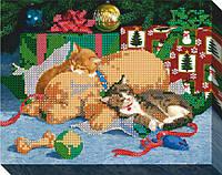 """Схема для вышивки бисером """"Подарки на Рождество"""""""