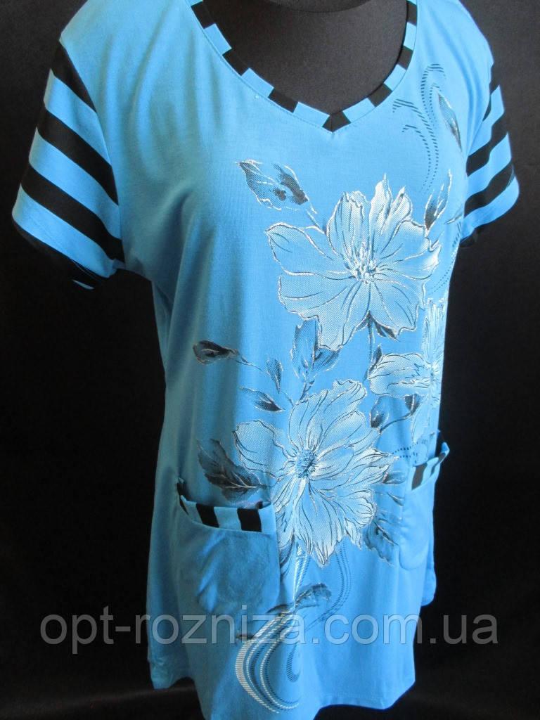 Летние футболки женские оптом.