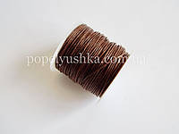 Шнур вощений коричневий