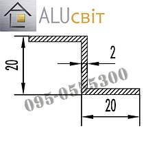 Z-профиль алюминиевый 20х20х2 анодированный