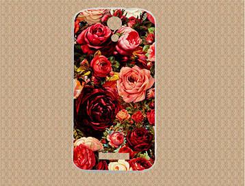 Силиконовый чехол для Doogee Y100x с рисунком розы, фото 2