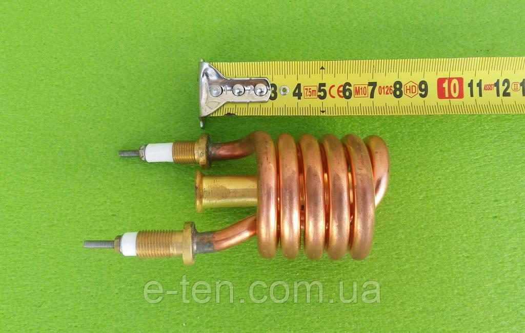 Тэн (нагреватель) медный 3kW/ 220V/ штуцер Ø10мм (спиралевидный) для проточных смесителей-водонагревателей