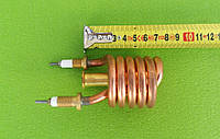 Тен (нагрівач) мідний 3kW/ 220V/ штуцер Ø10мм (спіралеподібний) для проточних змішувачів-водонагрівачів, фото 1