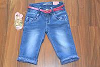 Джинсовые бриджи для девочек ,размеры 6-12,.Польша