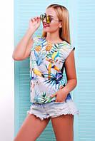 Яркая женская футболка с принтом Classic ТМ  Fashion UP 42-46 размеры