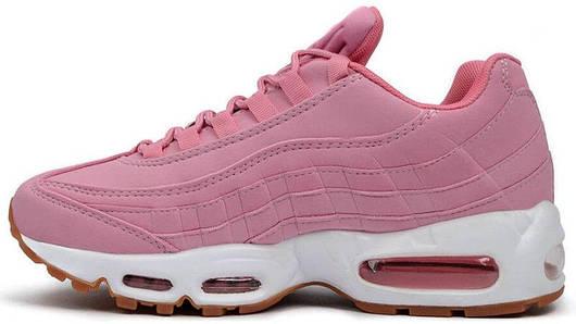 Кроссовки женские Nike Air Max 95 Pink Oxford, найк аир макс 95, реплика