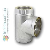 Трійник-сендвіч 45° для димоходу d 230 мм; 0,5 мм; AISI 304; неіржавіюча сталь/неіржавіюча сталь - «Версія-Люкс», фото 2