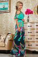 Красивое летнее  платье в пол 2233 бирюзовый, фото 2