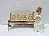 Кукольная мебель Скамейка