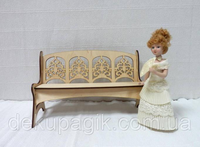Кукольная мебель Скамейка - фото 1