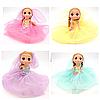 Брелок кукла-невеста Эльза в разноцветных нарядах