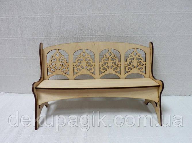 Кукольная мебель Скамейка - фото 2
