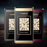 TKEXUN M1 Flip раскладной телефон на 2SIM двойной экран