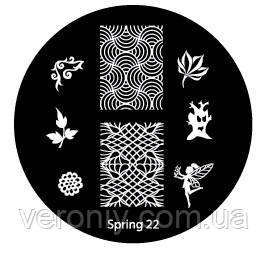 Диск для стемпинга Spring №22.