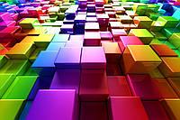 3D фотообои: Объёмный цвет