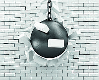 3D Фотообои: Разрушающий шар