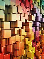 3D фотообои: Кубическая радуга