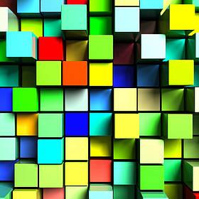 3D фотообои: Кубик-рубик