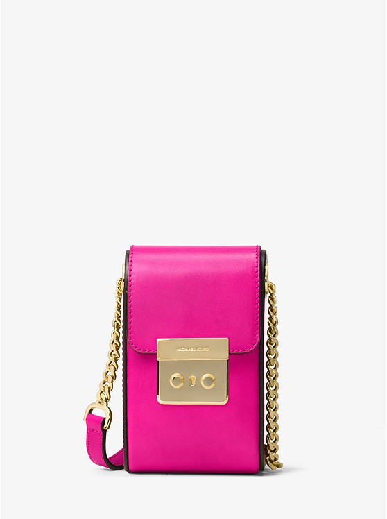 Сумка Michael Kors Scout Leather Crossbody  pink 32H6GB2C2L