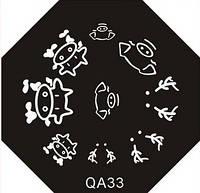 Диск для стемпинга QA №33