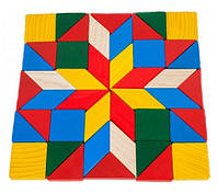 Деревянная игрушка Мозаика Геометрия в коробке, фото 1