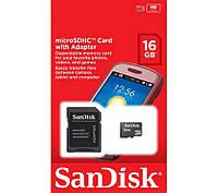 Карта п. SanDisk microSDHC 16 GB card Class 10+adapter