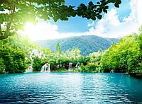 Фотообои: Водопад и озеро