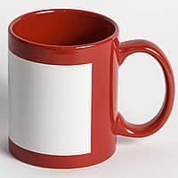 Чашка красная с полем для печать