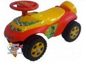 Машинка для катания автошка красная