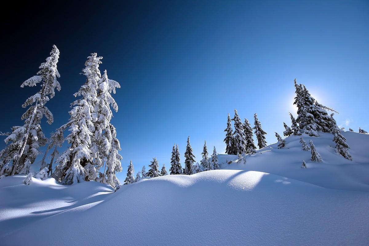 Фотообои Снежные сугробы