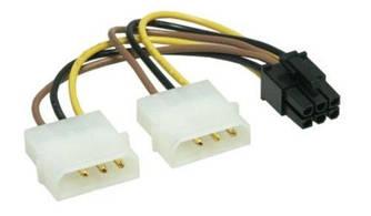 Перехідник живлення 4 Pin IDE - 6 Pin PCI-E